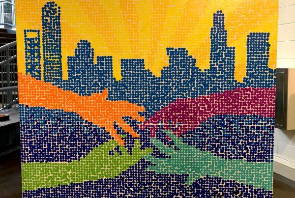 Laurie Smithwick - Maker Faire Sticker Wall