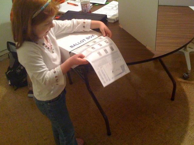 Zoe and the ballot box